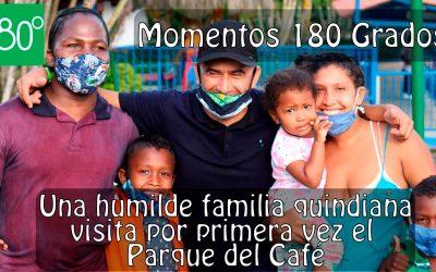 Vídeo: Un padre invidente y su humilde familia pudieron conocer el Parque del Café