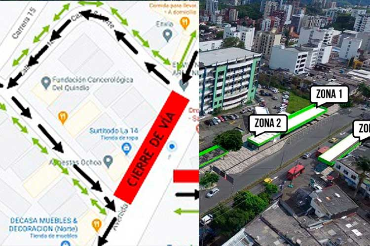 Avenida Bolívar cerrada de norte a sur desde este lunes frente al hospital