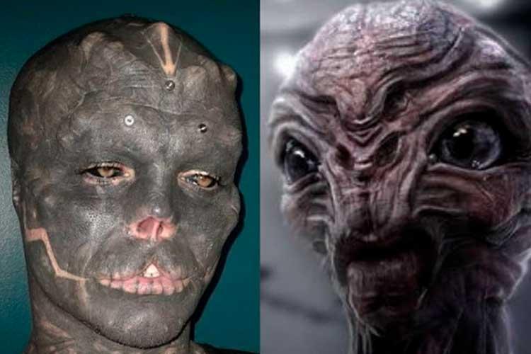 Hombre que busca verse como un alien lleva más de 15 cirugías
