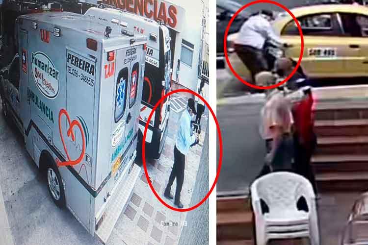 robaron desfibrilador ambulancia Armenia
