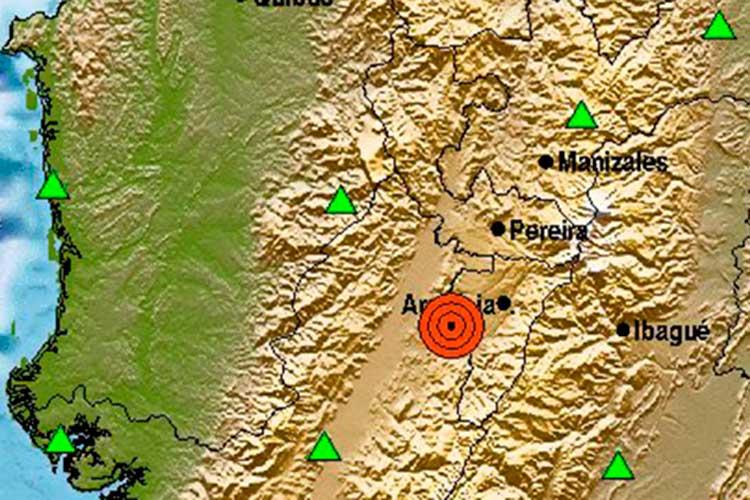 temblor de tierra con epicentro cerca de La Tebaida