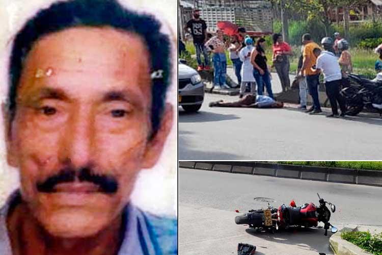 Adulto mayor murió arrollado moto Mercar