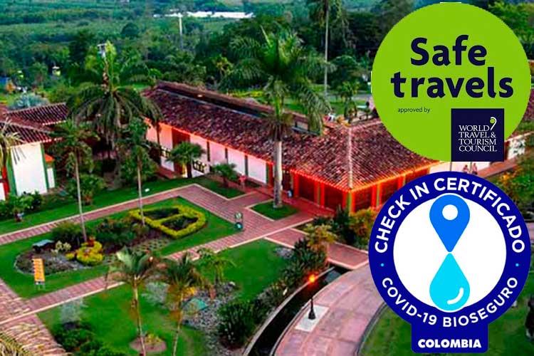 Parque del Café certificado como parque bioseguro contra el Covid-19