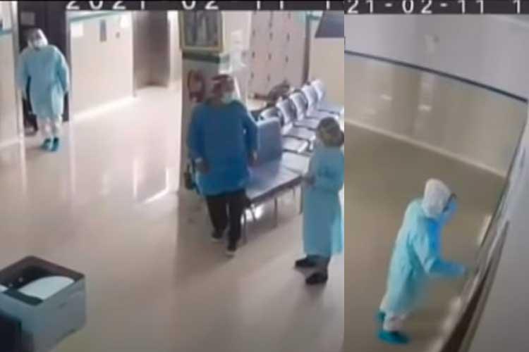Policía se disfrazó de médico para ver a su padre y lo encontró muerto
