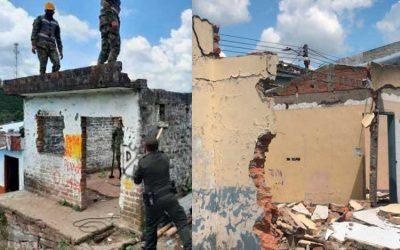 En Quimbaya demolieron 2 viviendas utilizadas para vender estupefacientes