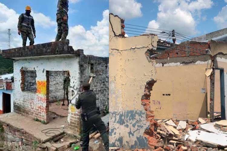Quimbaya demolieron 2 viviendas estupefacientes