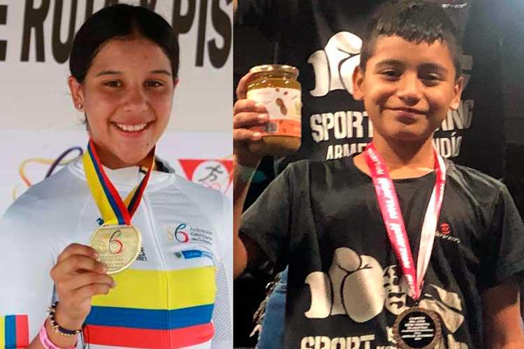 Quindianos ganaron oro en Interclubes de ciclismo y Muay Thai