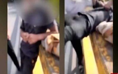 En vídeo venezolanos tiran desde un puente a un peruano en Colombia