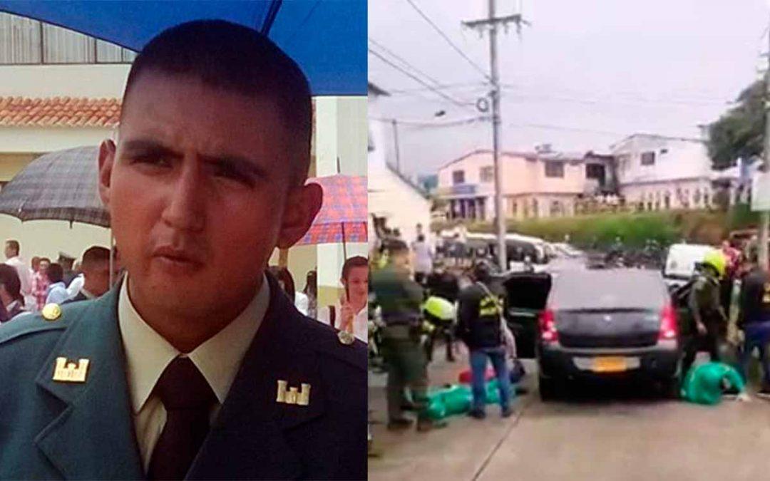 Cabo primero Ortiz Góngora víctima mortal tiroteo Armenia