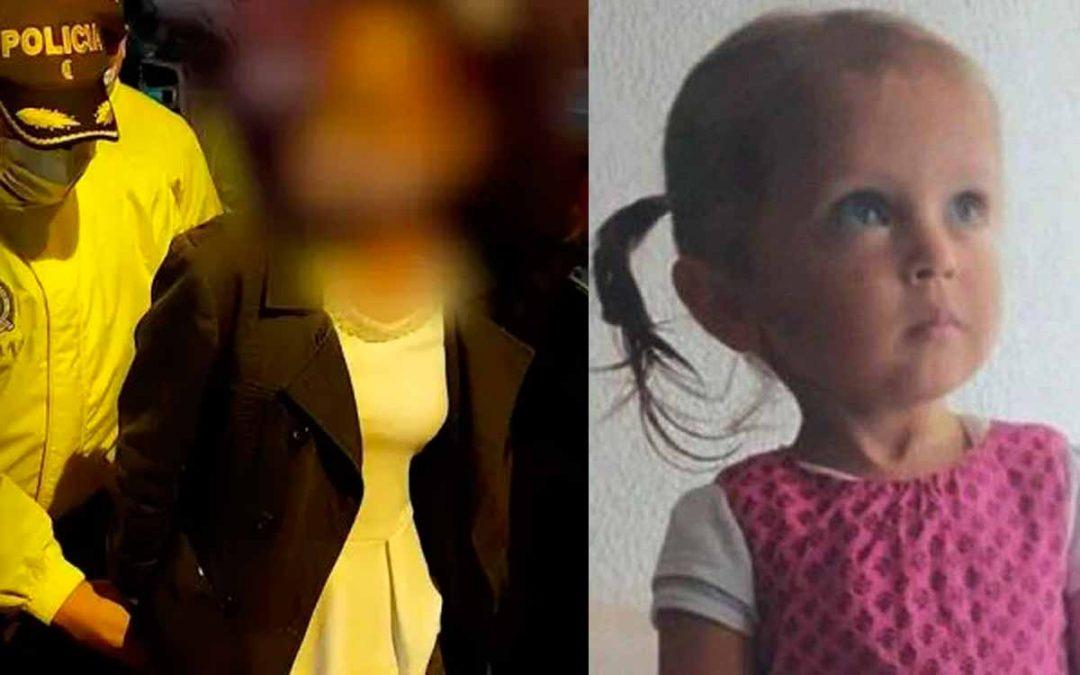 Capturada la mamá de niña desaparecida en Bogotá. La acusan de su desaparición