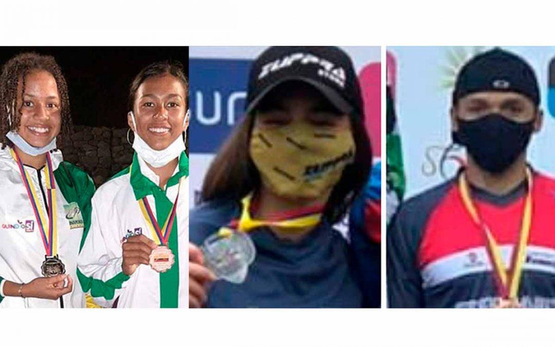 Deportistas quindianos se destacan en atletismo y BMX