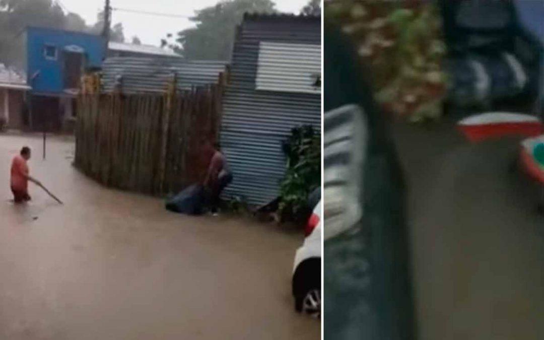 Drama en barrio de La Tebaida. 6 años que cada que llueve se inundan calles y casas