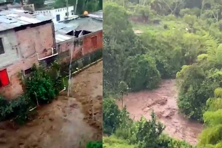 Emergencias en Pijao, La Tebaida y Montenegro por fuertes lluvias