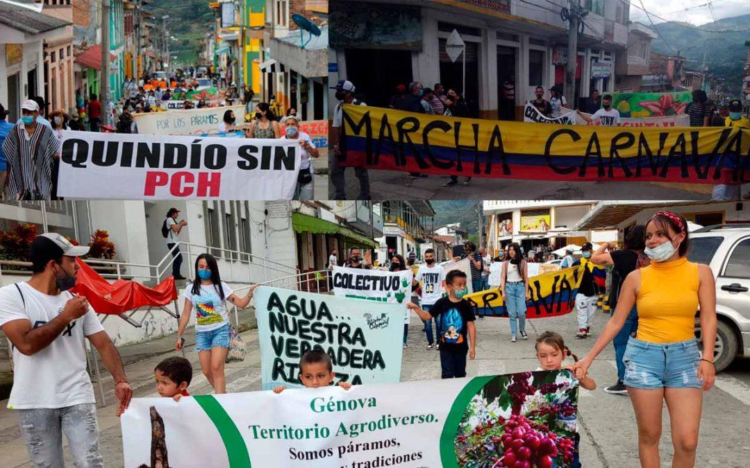 Genoveses protestaron en contra de proyectos energéticos