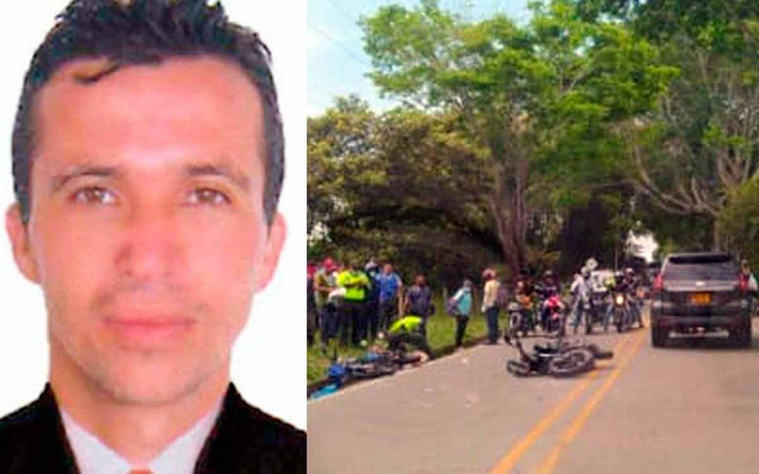 Murió ciudadano choque motos vía Montenegro - Quimbaya