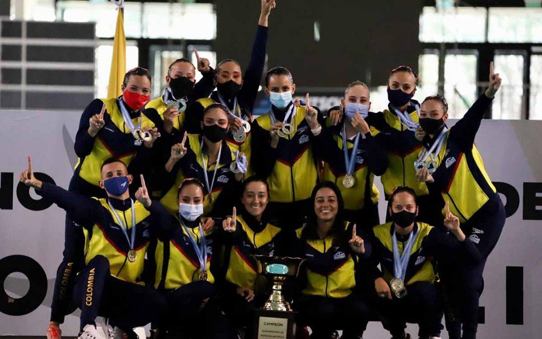 Por primeza vez Colombia campeona sudamericana de natación artística