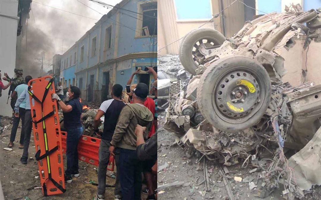 imágenes explosión Carrobomba Corinto Cauca