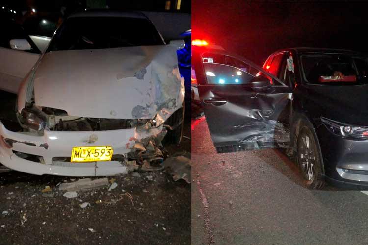 lesionados accidente vía Armenia - La Tebaida