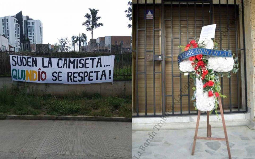 simbólicas protestas hinchas Quindío B
