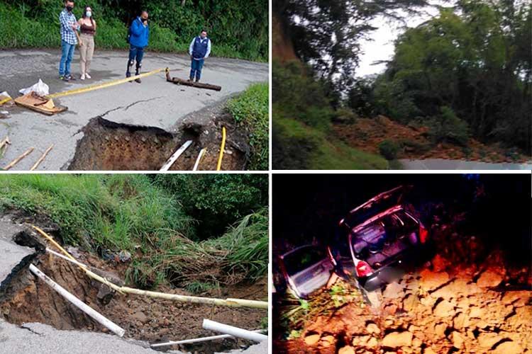 vía Circasia - Montenegro vía Chagualá emergencias lluvias