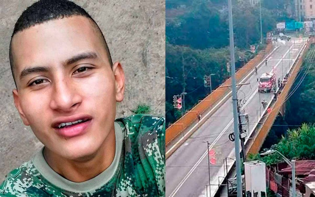 José Ever cayó puente La Florida Armenia