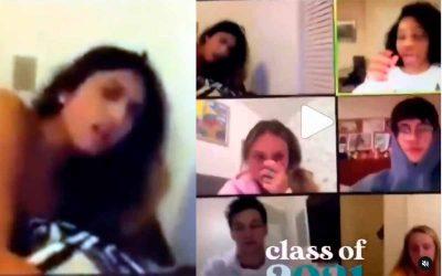 Video: se le olvidó apagar la cámara y la pillaron teniendo sexo en plena clase