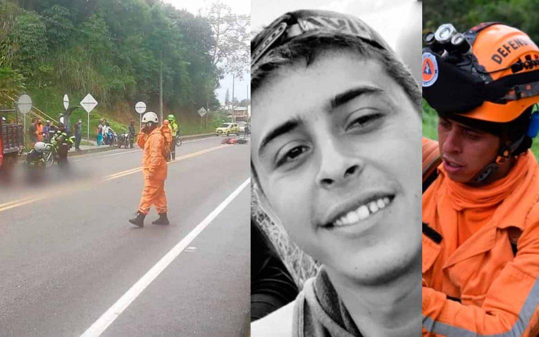 Voluntario Defensa Civil murió accidente Calarcá