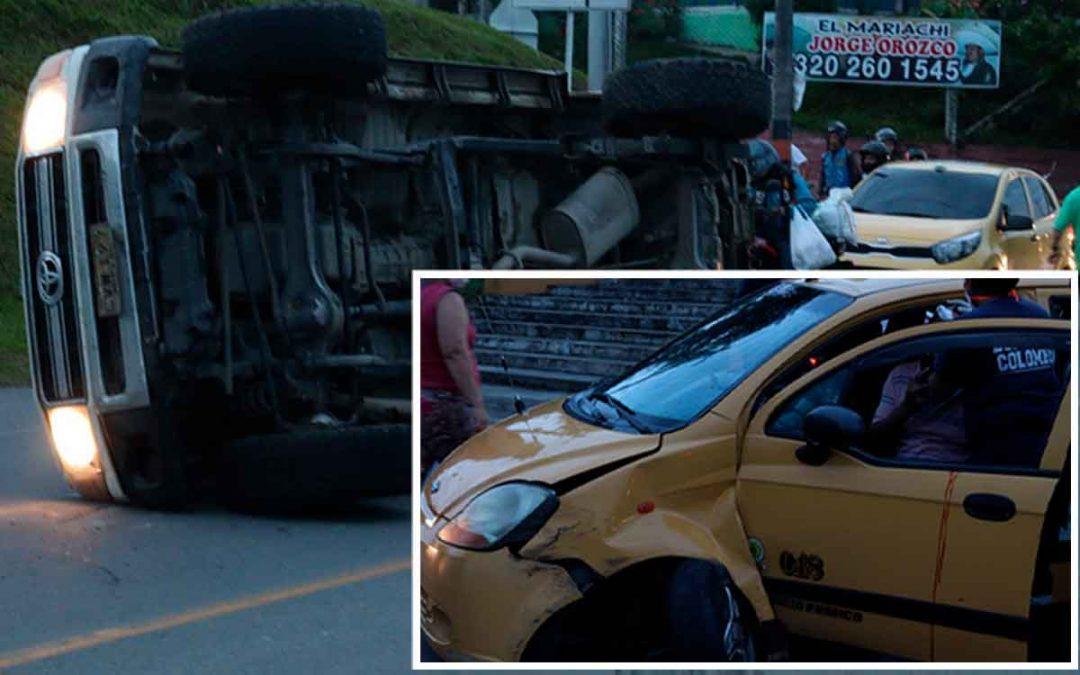 2 lesionados en aparatoso accidente en Montenegro