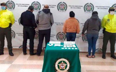 Capturaron 4 personas señaladas de pertenecer a banda de chance ilegal en el Quindío