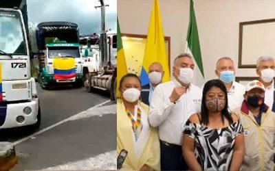 """""""No hay desbloqueo de vía La Línea. Gobernador acordó con indígenas y NO con camioneros"""""""