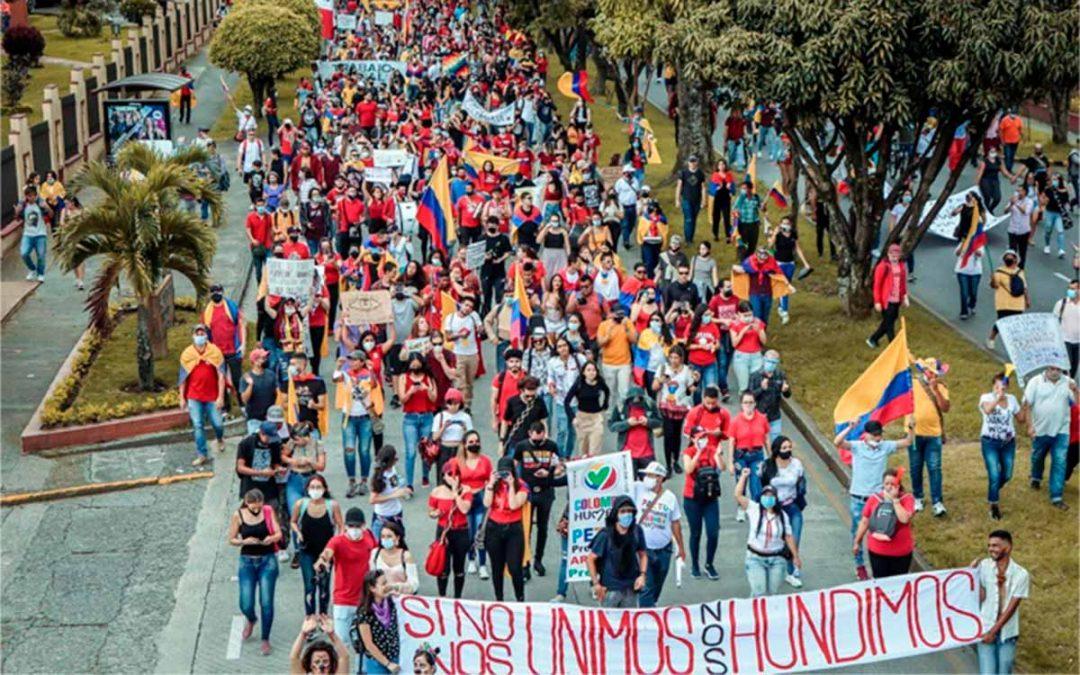 Plantón y marcha en jornada de Paro Nacional este 20 de julio en el Quindío