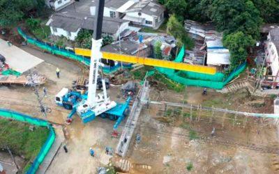 Otro retraso en obra del puente de los Quindos, ahora por falta de insumos por el Paro Nacional