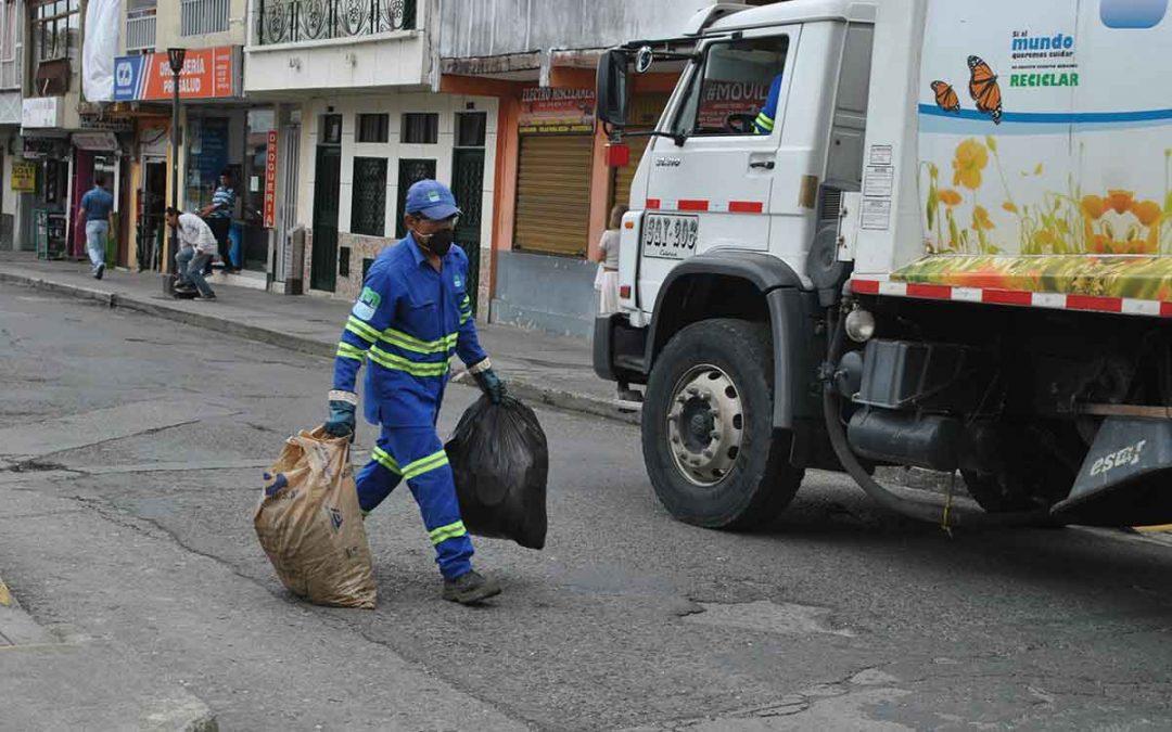 Servicio de aseo presentaría contingencias por situación de orden público en Calarcá