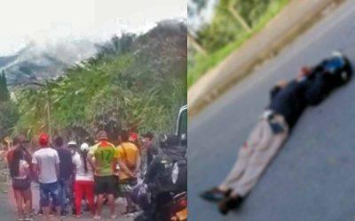 Vídeo: Sujeto mató a un manifestante en Barragán y la comunidad lo linchó