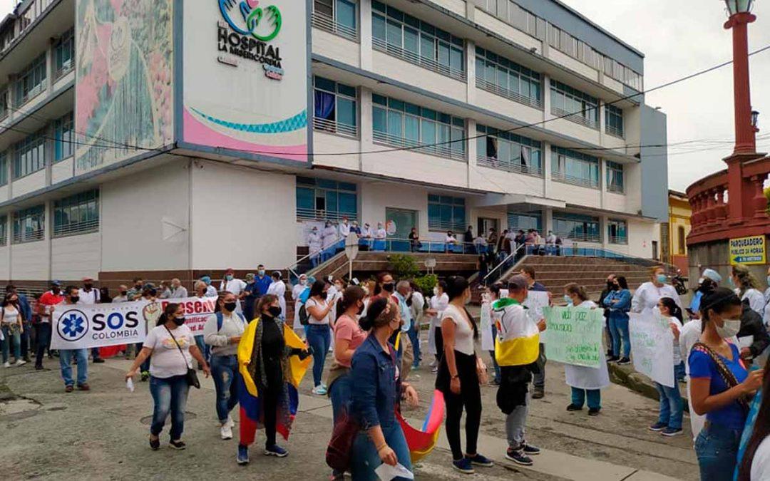 protestas falta pago hospital Calarcá