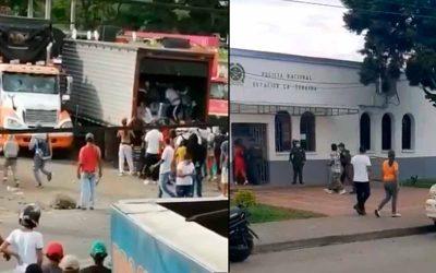 Se registran saqueos a tractocamiones en La Tebaida
