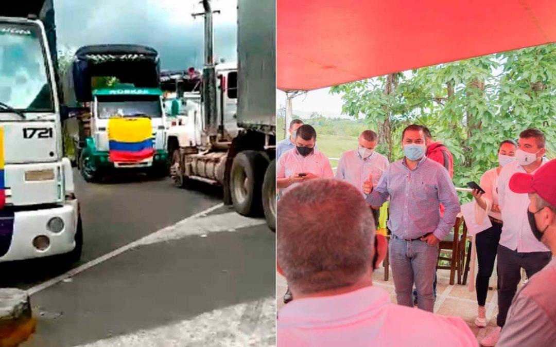 transportadores corredor humanitario alimentos y combustibles