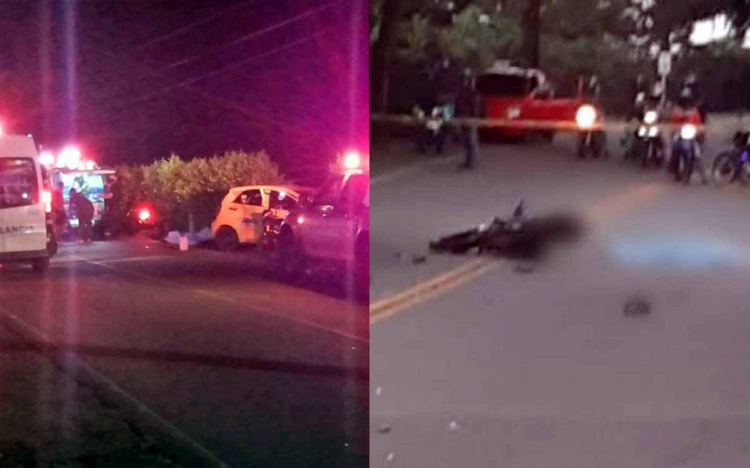2 muertos accidentes Armenia Pueblo Tapao Calarcá