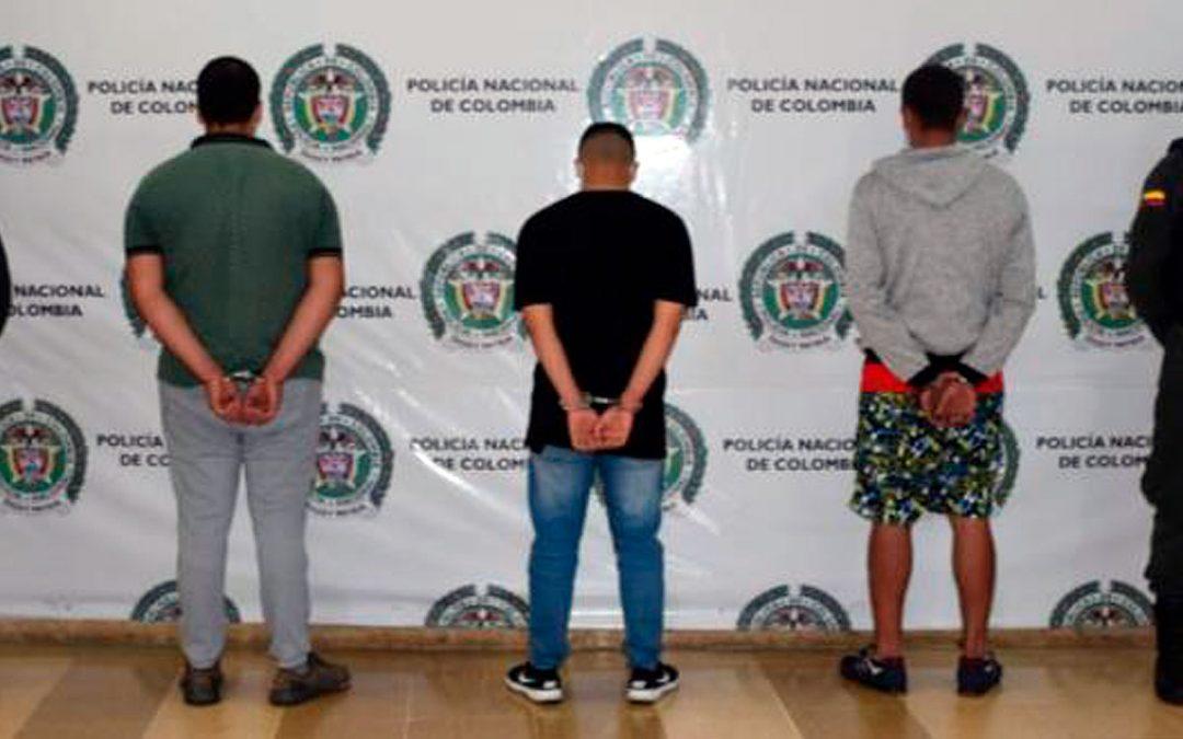 3 capturados por extorsión en Montenegro