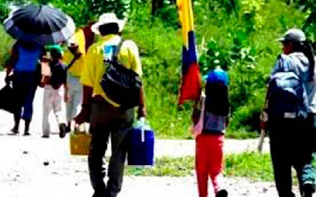 Colombia el país con más desplazados internos del mundo. Son el doble de migrantes venezolanos