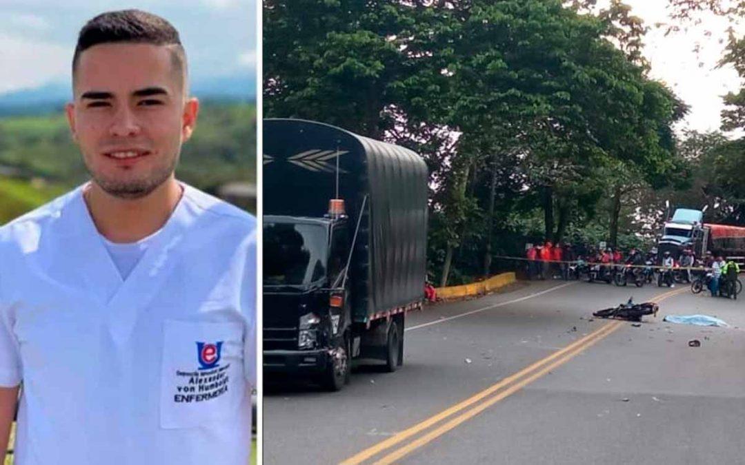 Diego Alejandro enfermero murió accidente Calarcá