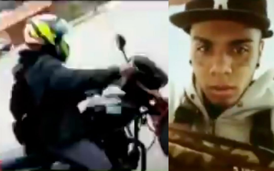 Ladrón pidió dueño moto grabara robó