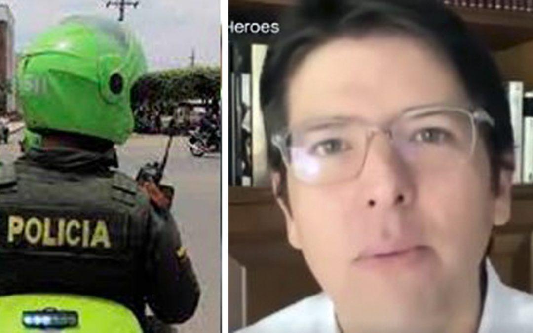 Lanzan vaca para ayudar a policías afectados por el paro ¿Y las ayudas del gobierno dónde están?