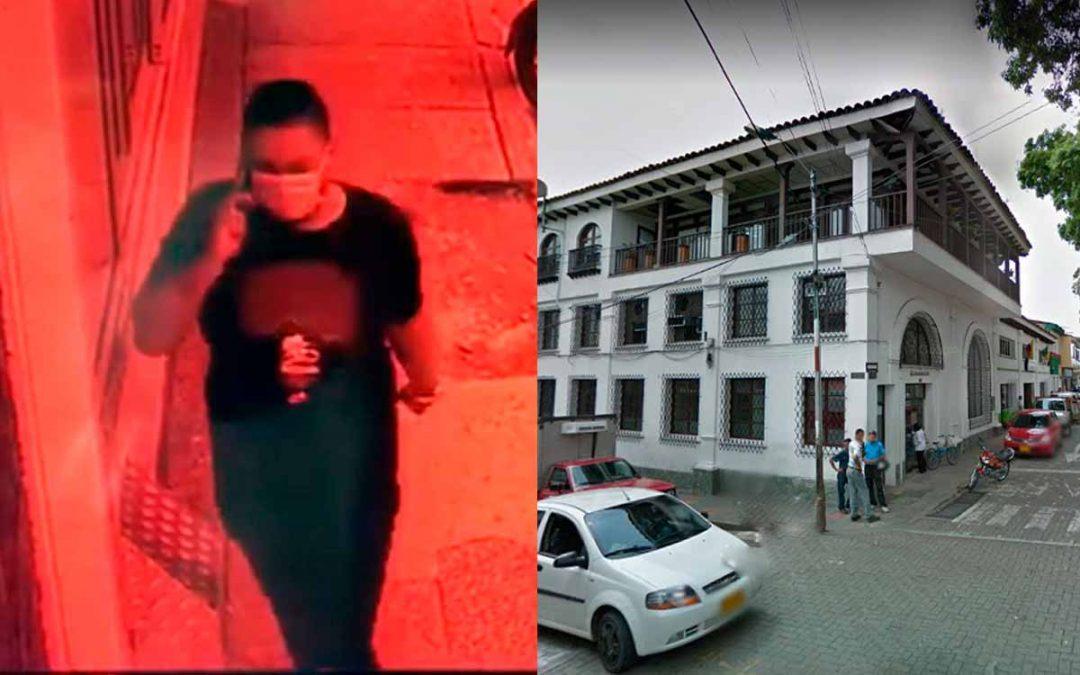 robó joven cajero Davivienda Montenegro
