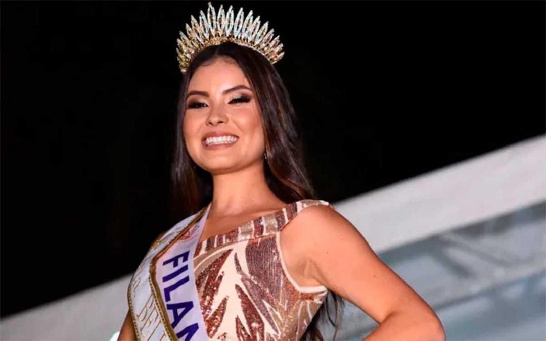 Señorita Filandia ganadora de la corona de Belleza Quindío 2021