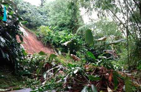 Derrumbes causan cierre de vía principal a Buenavista