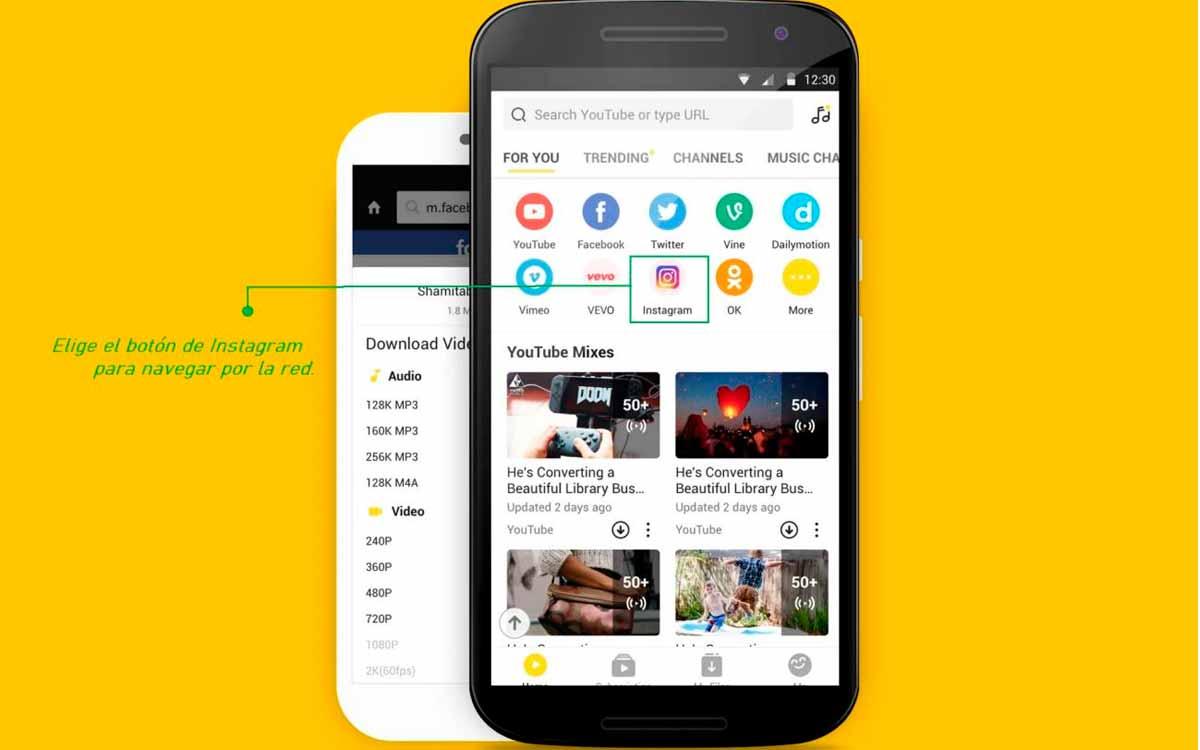 La app mas rapida para descargar video audio de Instagram 1
