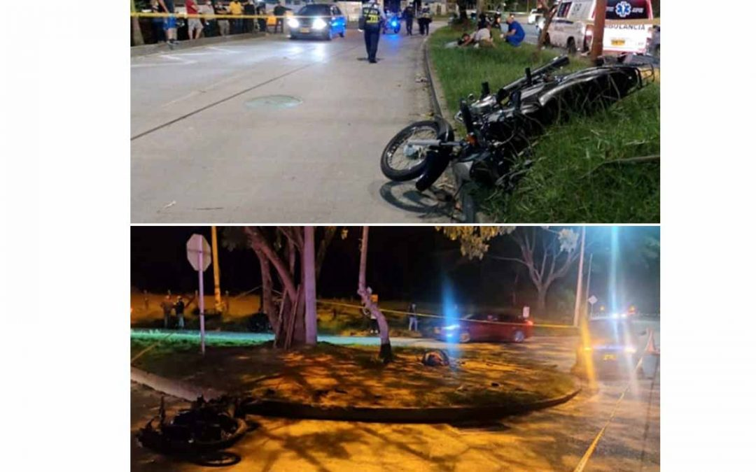 2 motociclistas muertos en accidentes