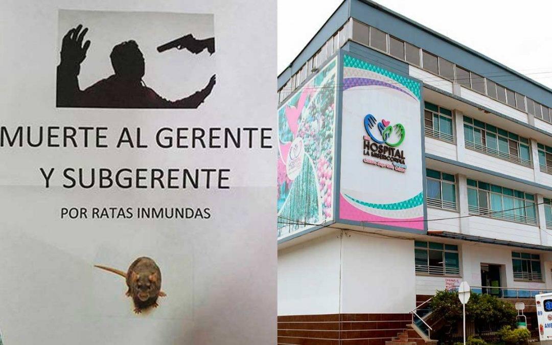 Amenazaron de muerte al gerente y subgerente del hospital La Misericordia de Calarcá