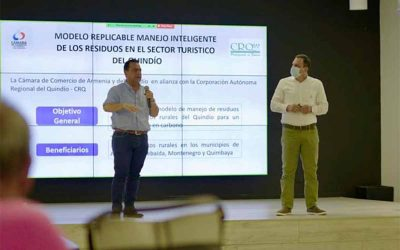 Cámara de Comercio y CRQ lanzan proyecto de manejo inteligente de residuos en sector turístico